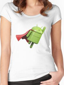 Android super hero Women's Fitted Scoop T-Shirt