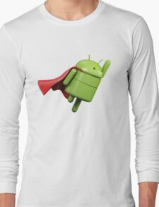 Android super hero Long Sleeve T-Shirt