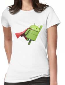 Android super hero Womens Fitted T-Shirt