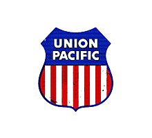 Vintage Union Pacific Railroad Tin Sign by jerry2011