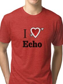 i love echo heart Tri-blend T-Shirt