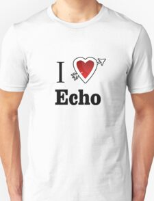 i love echo heart Unisex T-Shirt