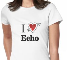 i love echo heart Womens Fitted T-Shirt
