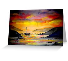 Sunset on the sea in West Cork Greeting Card