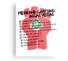 Fear and Loathing in Las Vegas checklist Metal Print