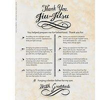 The TYJJ Manifesto (Thank You Jiu-Jitsu) SON Photographic Print