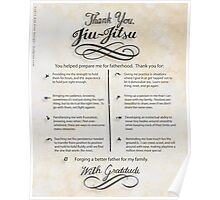 The TYJJ Manifesto (Thank You Jiu-Jitsu) NEUTRAL/PLURAL    Poster