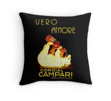 Cordial Campari Throw Pillow