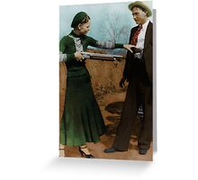 Bonnie & Clyde Colorized Greeting Card