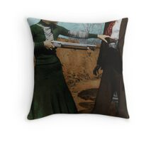 Bonnie & Clyde Colorized Throw Pillow