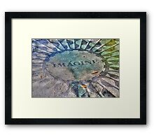 Imagine, New York Central Park  Framed Print