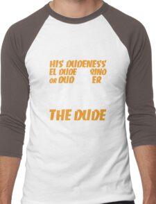 The Dude (Big Lebowski) Men's Baseball ¾ T-Shirt