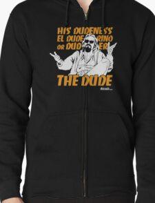 The Dude (Big Lebowski) Zipped Hoodie