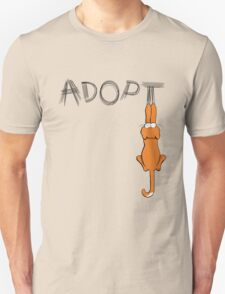 Adopt Cats Dark Claw Marks   Patch & Rusty™ T-Shirt