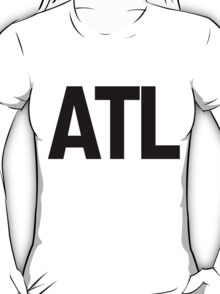 ATL Atlanta Black Ink T-Shirt