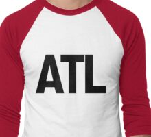 ATL Atlanta Black Ink Men's Baseball ¾ T-Shirt