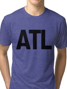 ATL Atlanta Black Ink Tri-blend T-Shirt