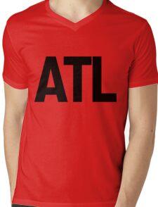 ATL Atlanta Black Ink Mens V-Neck T-Shirt