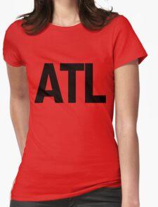 ATL Atlanta Black Ink Womens Fitted T-Shirt