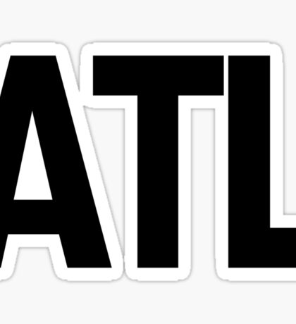 ATL Atlanta Black Ink Sticker