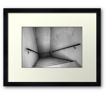 Down The Stairs Where You Came Up Framed Print
