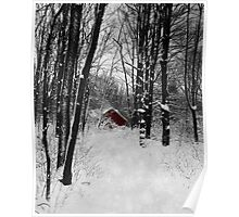 Follow The Snowflake Trail Poster