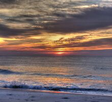 Waves Break at Dawn, Beach Sunrise by Michele Ford