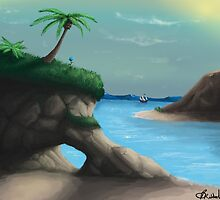 Black Flag Carribean Sea by Brandon  Riddoch