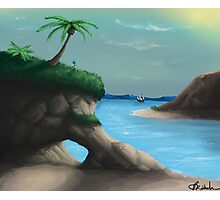Black Flag Carribean Sea Photographic Print