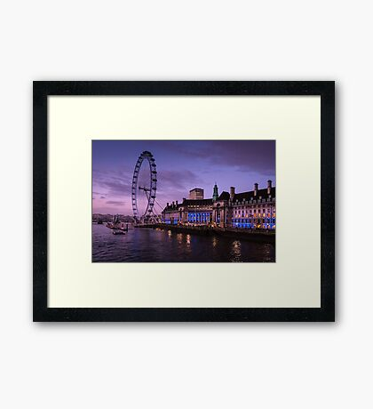 London Eye at Twilight Framed Print