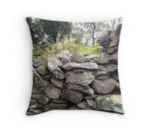 Dry Stone Wall, Gougane Barra, West Cork, Ireland Throw Pillow