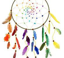 Rainbow Dream Catcher by MichelleElaine Smith