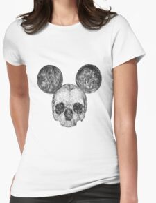 Skull Mouse Womens Fitted T-Shirt