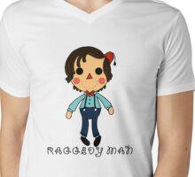 Raggedy Man Mens V-Neck T-Shirt