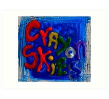 crayon skies Art Print