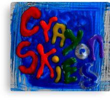 crayon skies Canvas Print