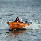 Taking A New Boat For A Spin Around Lyme, Dorset, UK by lynn carter