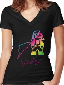 Weird Fucked Up Vader Mario Women's Fitted V-Neck T-Shirt