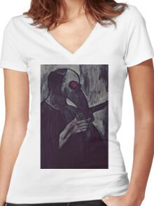 agent of plague Women's Fitted V-Neck T-Shirt