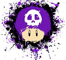 Abstract Super Mario Poison (purple) Mushroom by scribbleworx