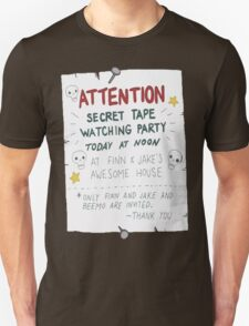 Adventure Time- Secret Tape Watching Party T-Shirt