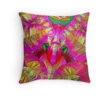 Psychedelic Poinsettia Throw Pillow