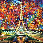 Paris Of My Dreams — PALETTE KNIFE Oil Painting On Canvas By Leonid Afremov — https://www.etsy.com/listing/166542541/paris-of-my-dreams-palette-knife-oil? by Leonid  Afremov