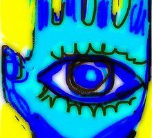 Blue Hamsa  December by Kater