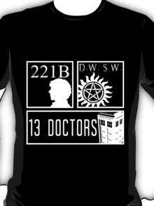 Superwholock fandom T-Shirt