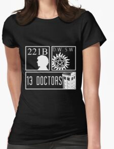 Superwholock fandom Womens Fitted T-Shirt