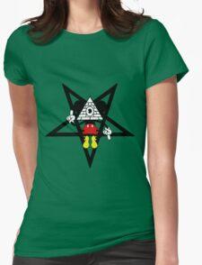 Illuminati Mickey Womens Fitted T-Shirt