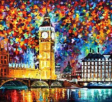 Big Ben London — PALETTE KNIFE Oil Painting On Canvas By Leonid Afremov — https://www.etsy.com/listing/157757808/big-ben-london-palette-knife3-oil?ref=shop_home_active by Leonid  Afremov