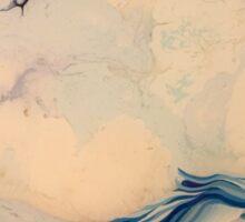 untitled- resin, enamel, oil, dyes on board Sticker