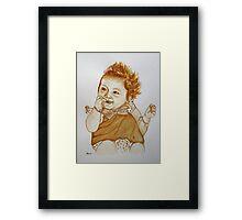 Kiah - (in coffee) Framed Print